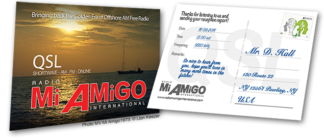 QSL card Radio Mi Amigo International