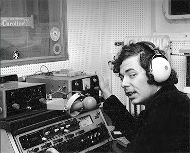 Lion in the Mi Amigo studio Radio Caroline 1972